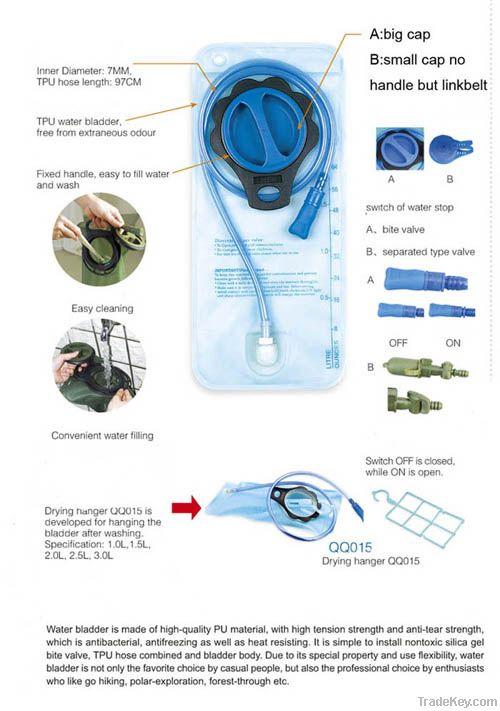 hydration water bladder