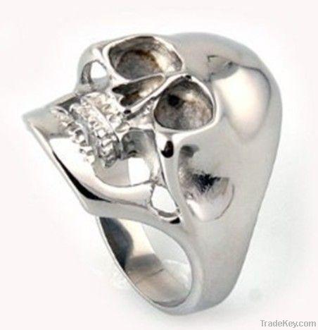 stainless steel men ring jewelry skull rings design
