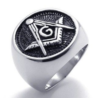 fashion Masonic ring stainless steel ring for men
