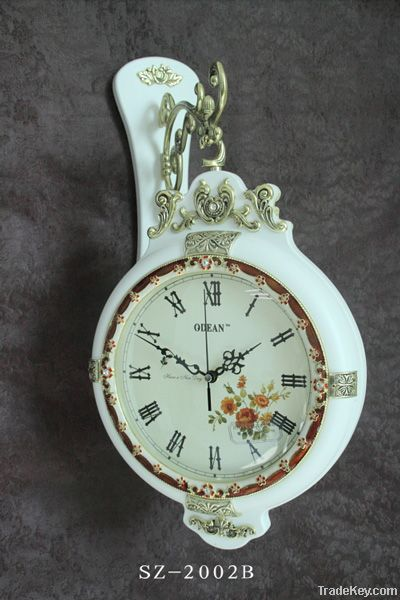 Antique double-sided wall clock