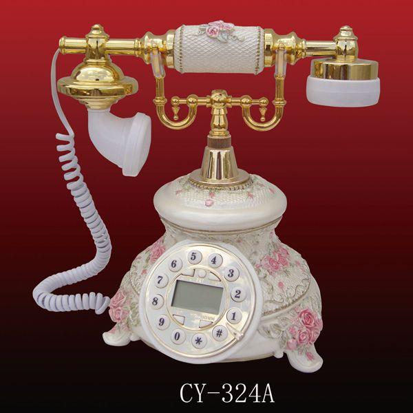 Pastoral Style Phone, resin telephone, classic telephone