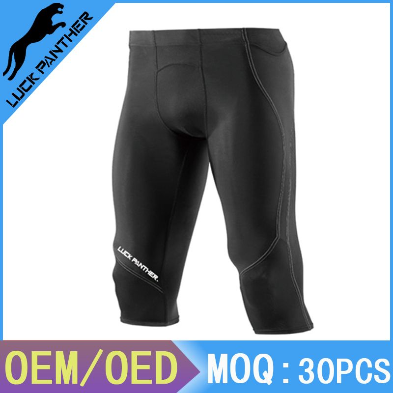 Mens Spandex Exercise Compression Fitness Workout Short Running Shorts