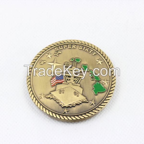 custom engraved brass souvenir collect coin