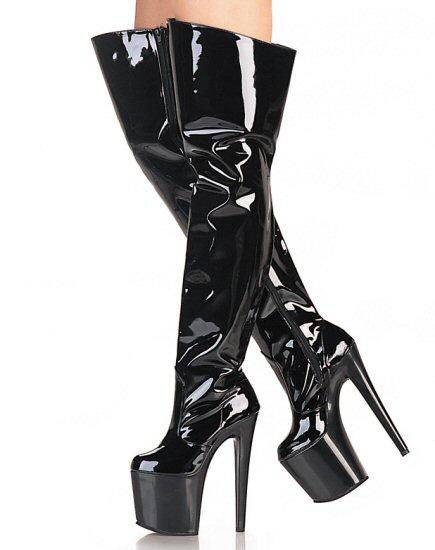 Womens Thigh High Boots W/ Spike Heel