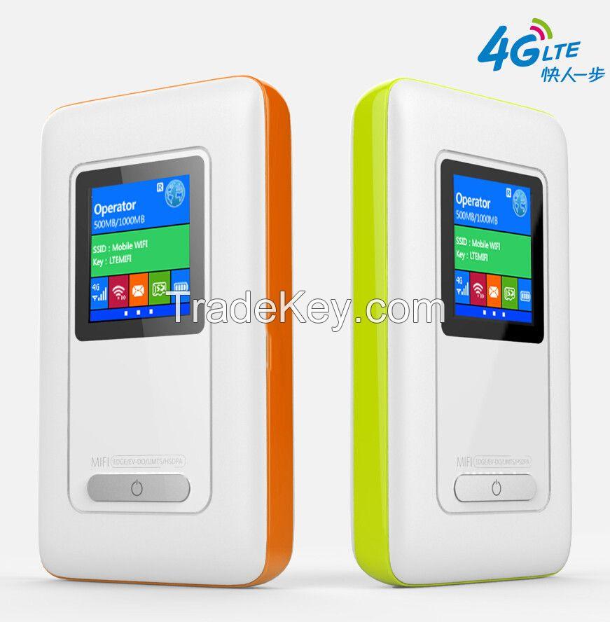 4G MIFI Carifi sharing portable 4g wireless 4g router with 2000mAH