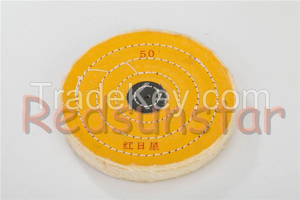 stainless steel/copper/dental/metal cotton/muslin/flannel sewn cloth wheel