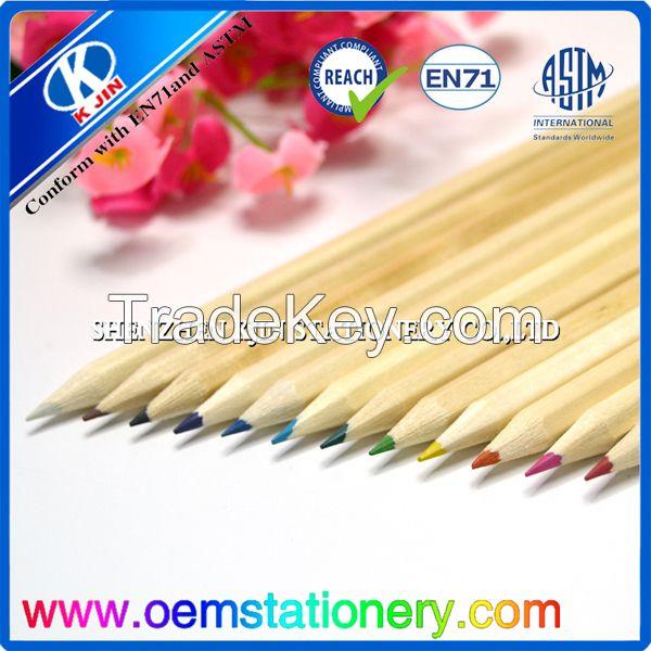 24 color pencil natural wood color pencil