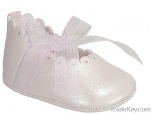 Pearly Leather Mary Jane baby shoe