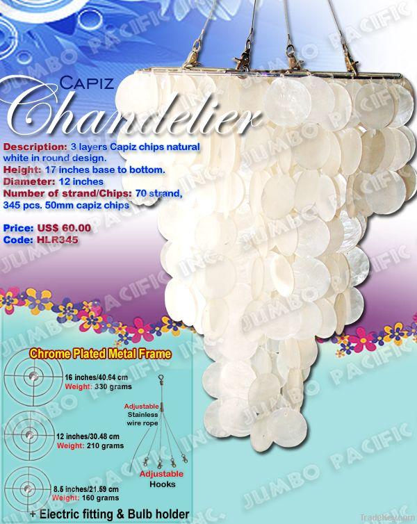 Capiz Shells Chandelier