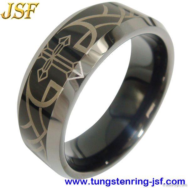 Golden Mens Tungsten Wedding Ring