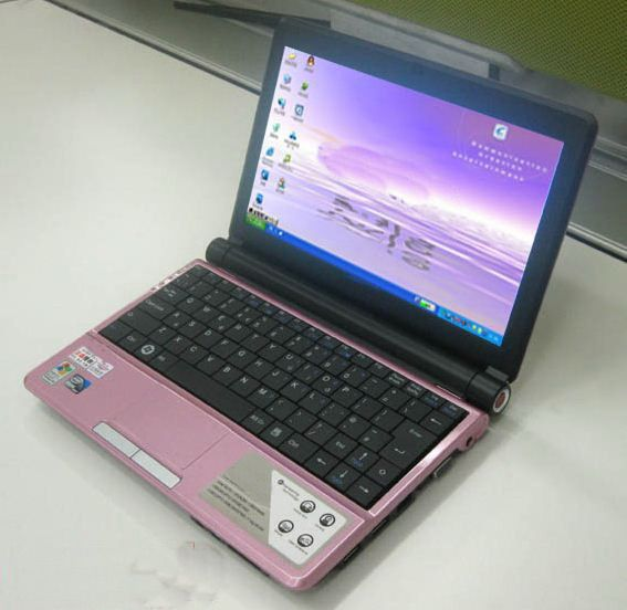 10.2??win7 1024*600 Laptop, Atom D425 Dual Core 1.8GHz+2g DDR3+250g HD,Camera,Bluetooth