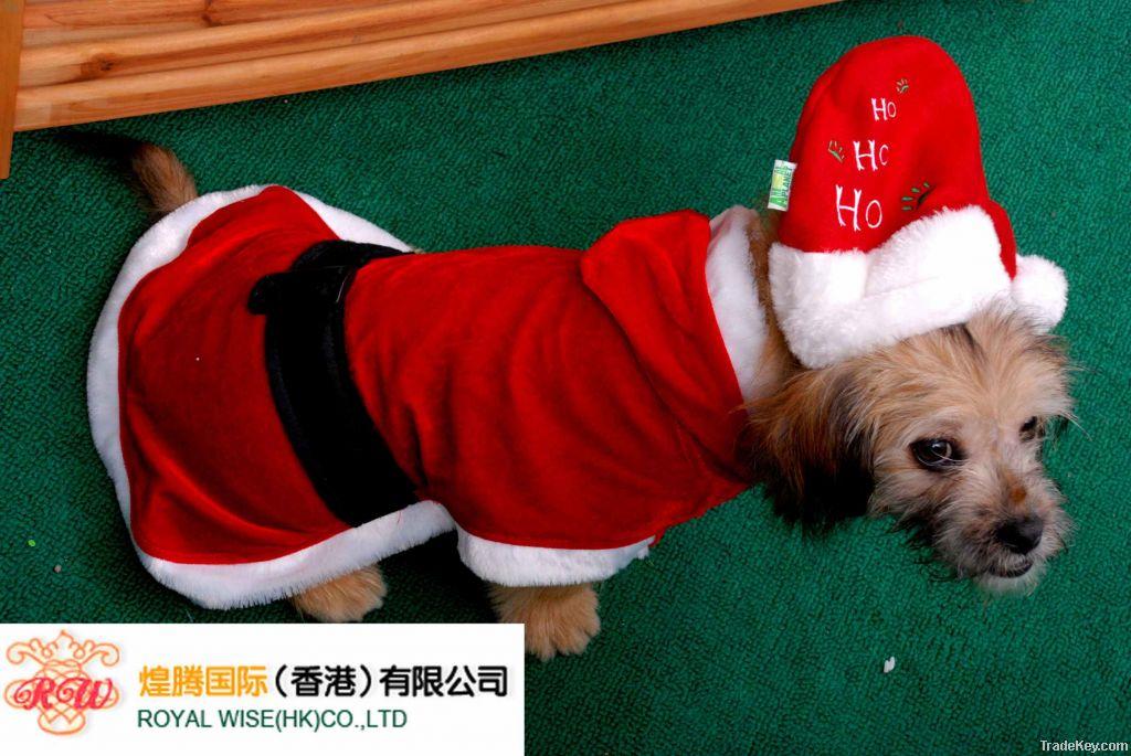Dog Christmas Costume with Hat, Dog Christmas Clothes