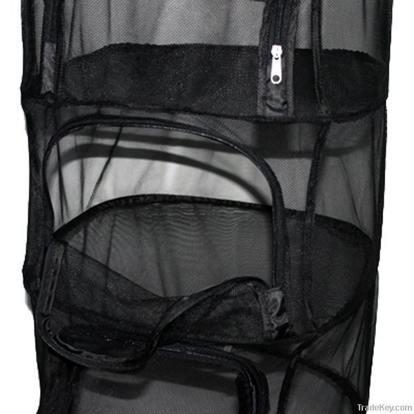 Square anti-mosquito folding netting hanging cage camp black