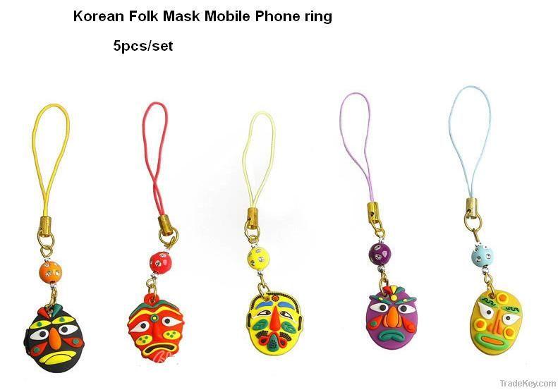 Mobile Phone Ring with Korean Folks Masks