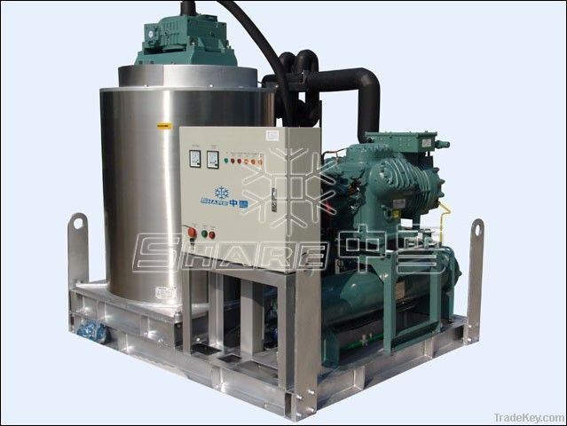 5T daily capacity commercial flake ice machine on board