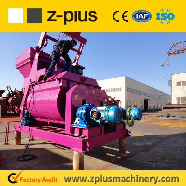 China famous brand ZPLUS offer twin shaft Concrete mixer JS series