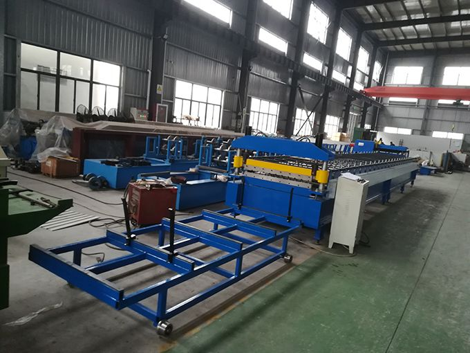 0.3-0.7mm Thickness Individual Ibr Roof Panel Roll Forming Machine