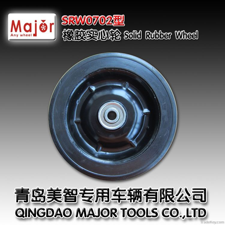 high quality solid rubber wheel