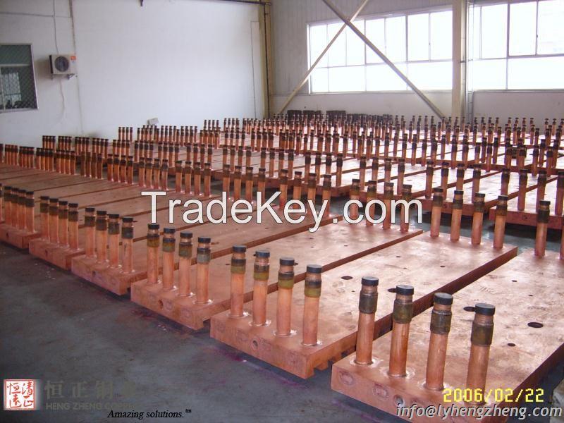 Copper cooling jackets for smelting furnace, copper cooling stave, blast furnace cooling stave, copper cooling water jacket
