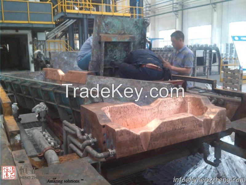 copper parts of cooling bed for EB furnace Titanium smelting -cooling system solutions