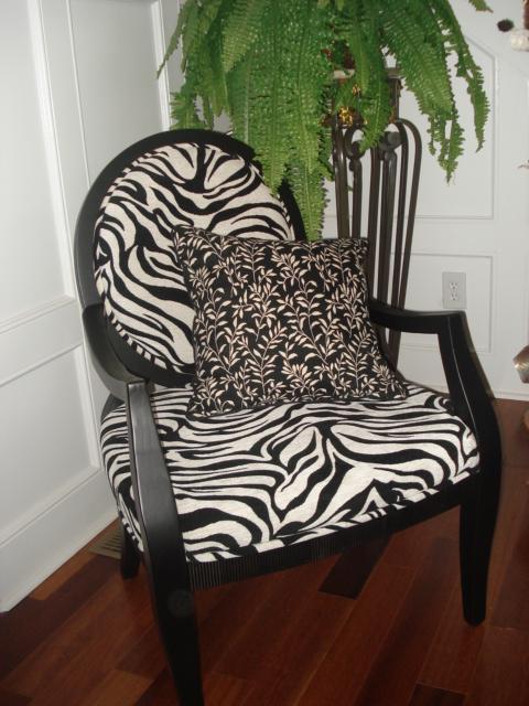 Zebra Accent Chair