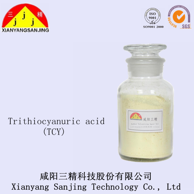 Trithiocyanuric acid for rubber vulcanizing agent