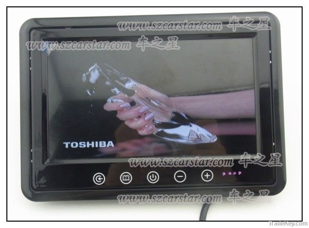 Well Sell Item!  7 Inch LCD tft HD Car Monitor With Touch Button