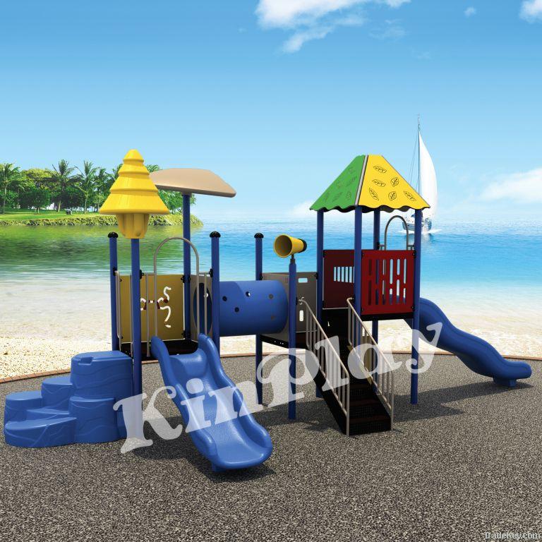 kids outdoor plastic playground slide, play equipment
