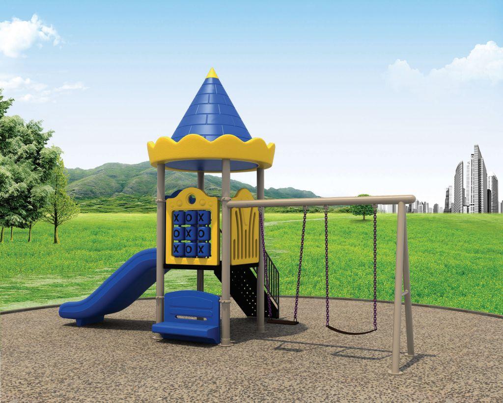 kids plastic outdoor plaground slide