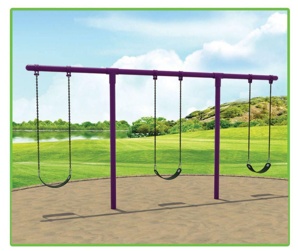 galvanized pipe swing set