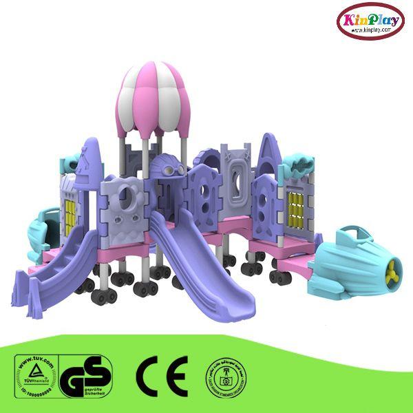small outdoor plastic slide playground
