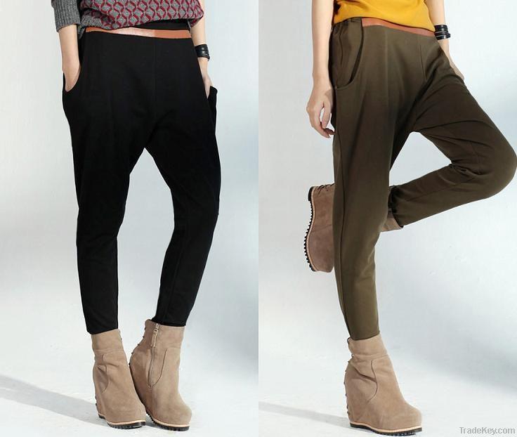 women legging, ladies' casual trouser, knitted long pants