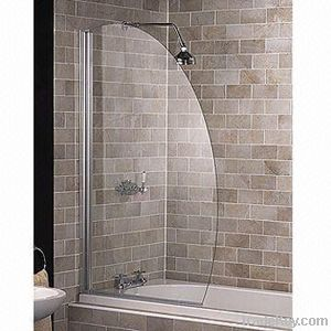 shower enclosure in laminated glass