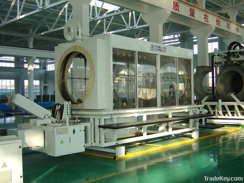 PP double wall corrugate pipe extrusion line