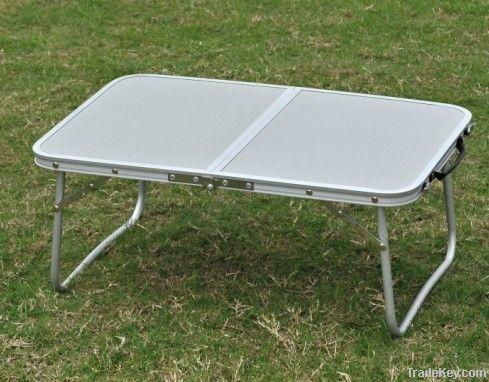 Laptop table, folding table, portable table, mini camping table