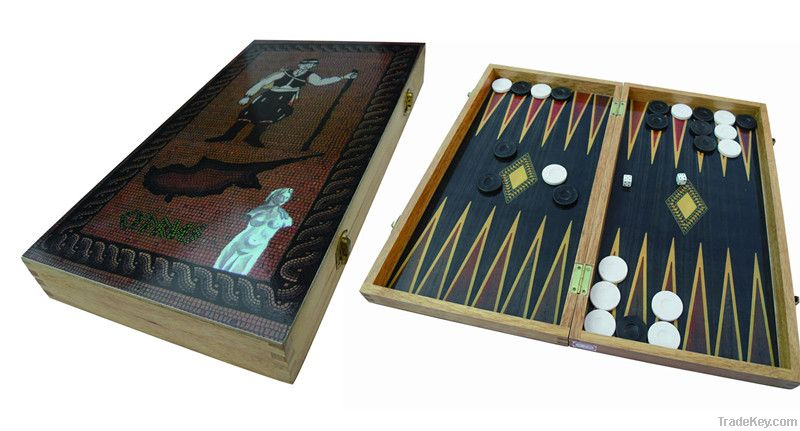 Giant Turkish Wooden Backgammon Game