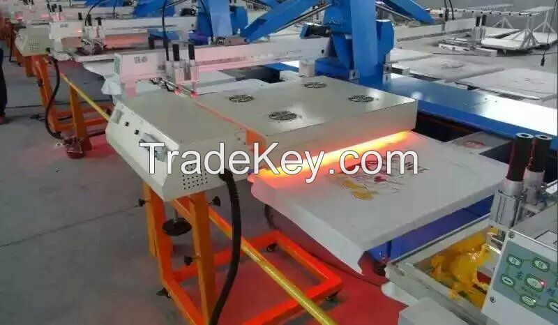 Automatic oval screen printing machine