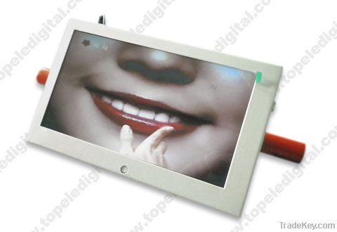 10.1'' motion sensor lcd advertising monitor, shopping carts advertisi