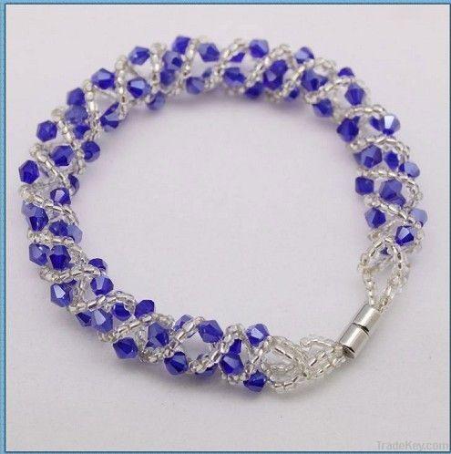 Natural Crystal Beads Bracelets, Glass beads bracelets