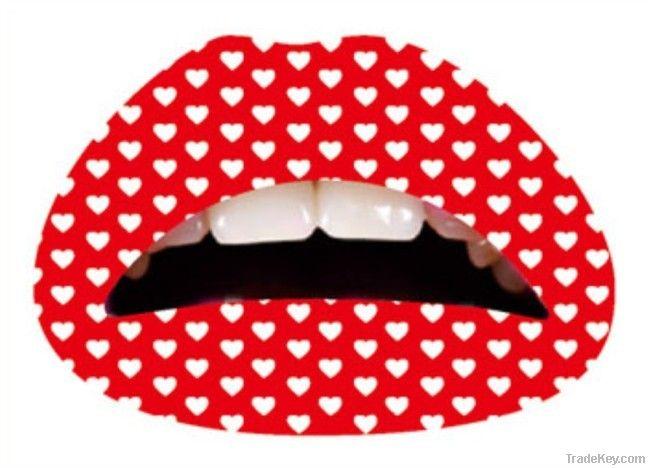 C001 wholesale 72 designs for mix Custom Temporary Lip Tattoo Sticker