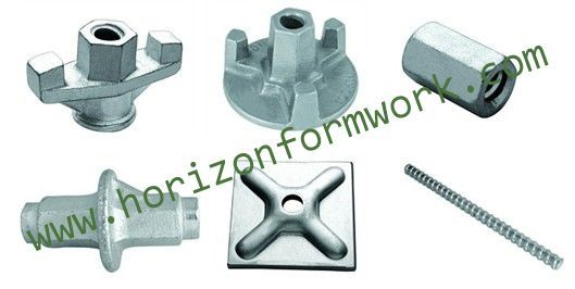 Formwork accessories, wing nut, tie-rod, water stop, dywidag