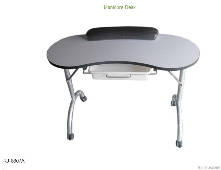 White and portable manicure table-RG-8607A