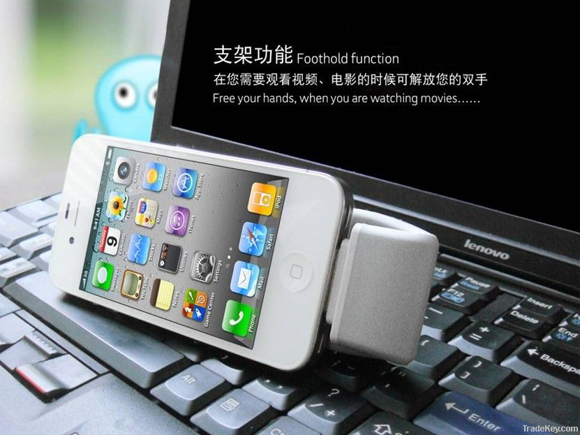 NEW suction cup iphone portable power bank with lithium polymer batte