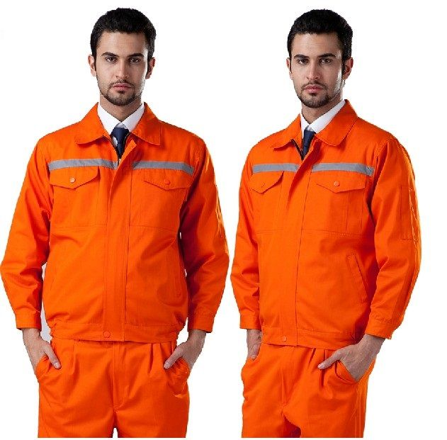 New 2014 high quality 100 cotton  men reflective workwear coverall uniform