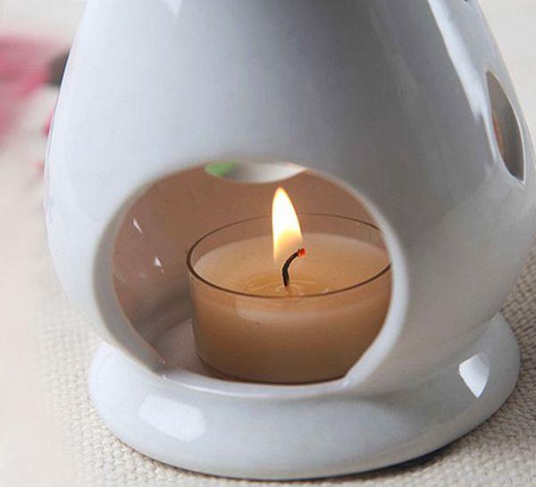 Elegant White Ceramic Essential Oil Burner