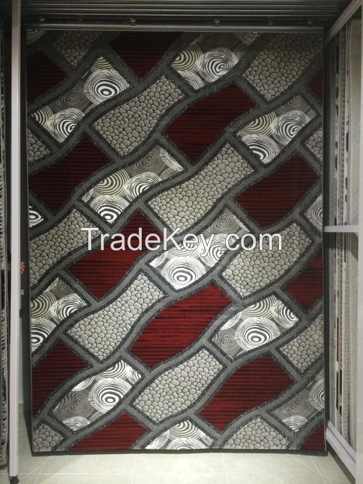 Heatset metalic rulex carpet
