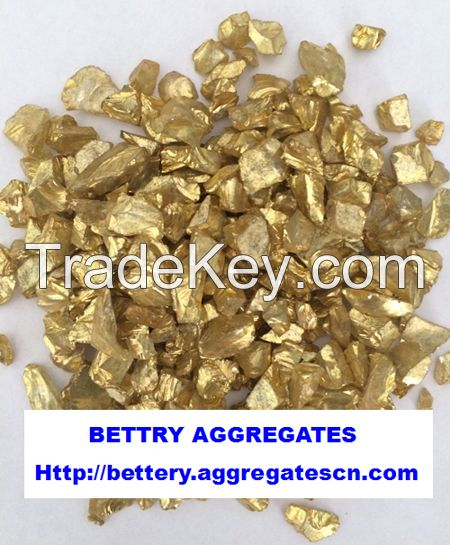 gold coated glass aggregate