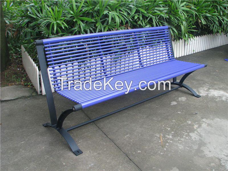 Powder coated outdoor bench metal park bench steel garden bench