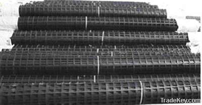 High tensile strength Biaxial steel-plastic geogrid