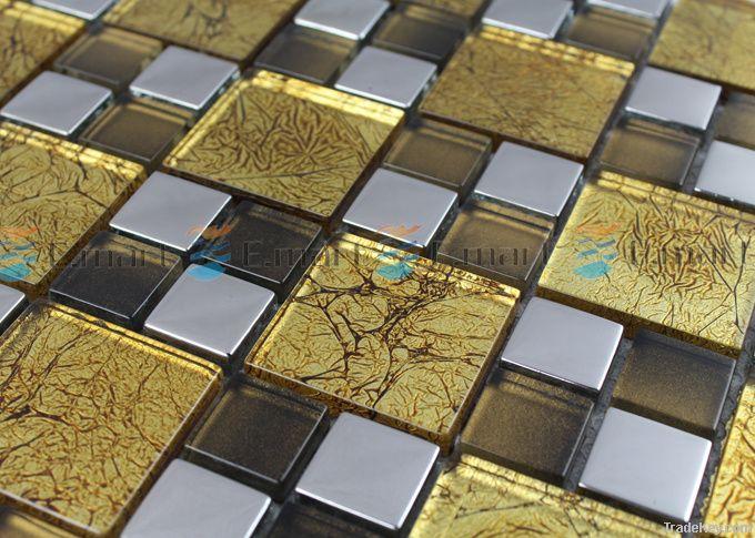 Backsplashe Mosaic bathroom tile (Stainless Steel)